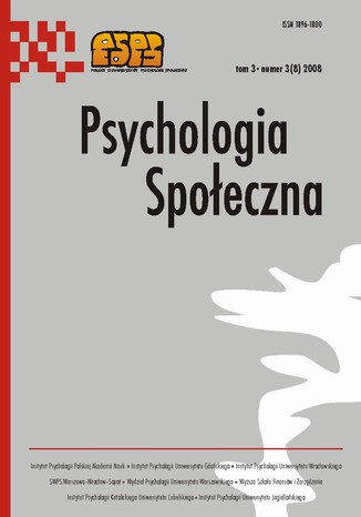 Okładka książki/ebooka Psychologia Społeczna nr 3(8)/2008
