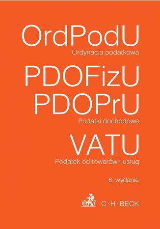 Okładka książki/ebooka Ordynacja podatkowa Podatki dochodowe VAT
