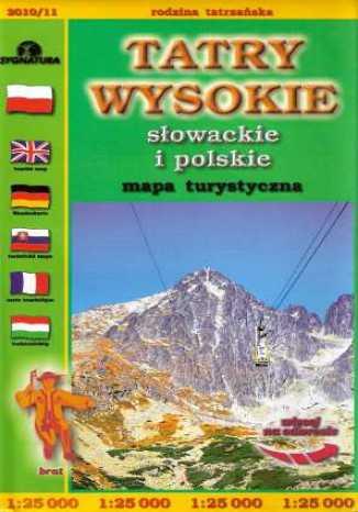 Okładka książki/ebooka Tatry Wysokie Słowackie i polskie. Mapa turystyczna