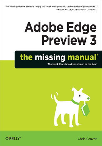 Okładka książki Adobe Edge Preview 3: The Missing Manual