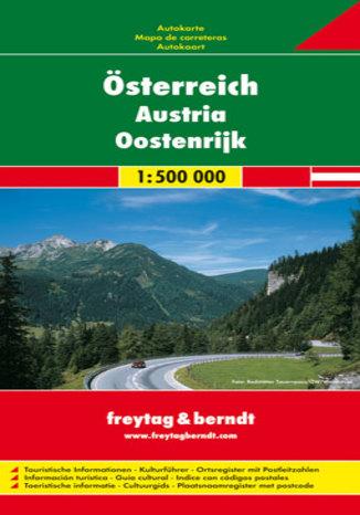 Okładka książki Austria. Mapa Freytag & Berndt / 1:500 000