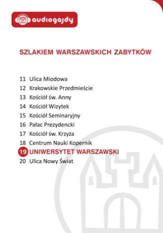 Okładka książki/ebooka Uniwersytet Warszawski. Szlakiem warszawskich zabytków