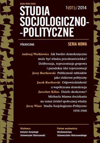 Okładka książki/ebooka Studia Socjologiczno-Polityczne 2014/1 (1)