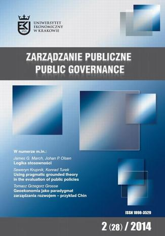 Okładka książki/ebooka Zarządzanie Publiczne nr 2(28)/2014 - Seweryn Krupnik, Konrad Turek: Using Pragmatic Grounded Theory in the evaluation of public policies