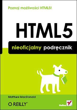 Okładka książki/ebooka HTML5. Nieoficjalny podręcznik