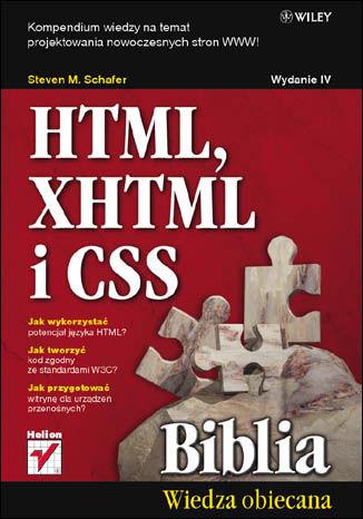 Okładka książki/ebooka HTML, XHTML i CSS. Biblia. Wydanie IV