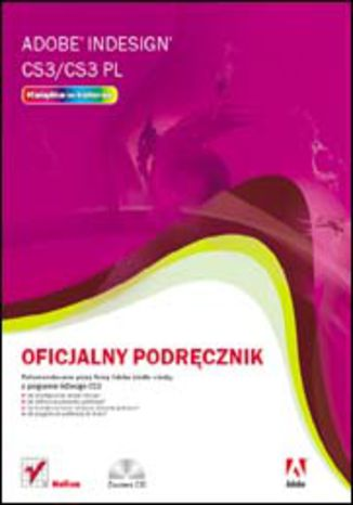 Okładka książki/ebooka Adobe InDesign CS3/CS3 PL. Oficjalny podręcznik