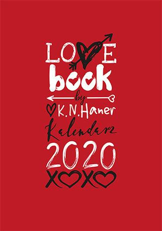 Okładka książki  LOVE book by K.N. Haner. Kalendarz 2020
