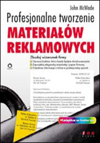 Okładka książki/ebooka Profesjonalne tworzenie materiałów reklamowych