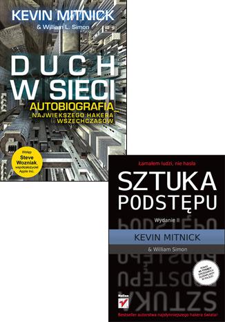 Okładka książki/ebooka Sztuka podstepu. Łamałem ludzi nie hasła. Wydanie II + Duch w sieci. Autobiografia największego hakera wszechczasów. Zestaw