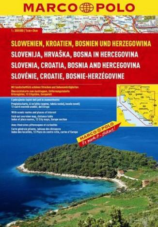 Okładka książki/ebooka Słowenia i Chorwacja. Atlas Marco Polo 1:300 000