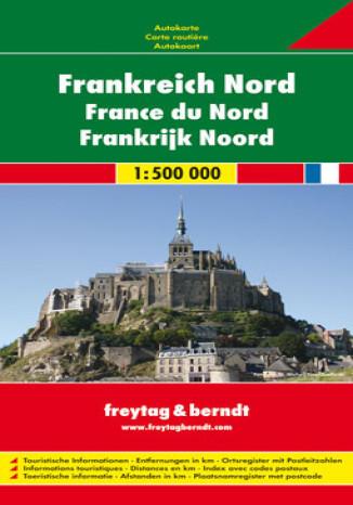 Okładka książki Francja Północna mapa 1:500 000 Freytag & Berndt