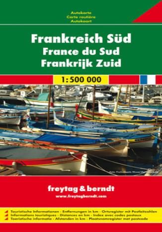 Okładka książki Francja Południowa mapa 1:500 000 Freytag & Berndt