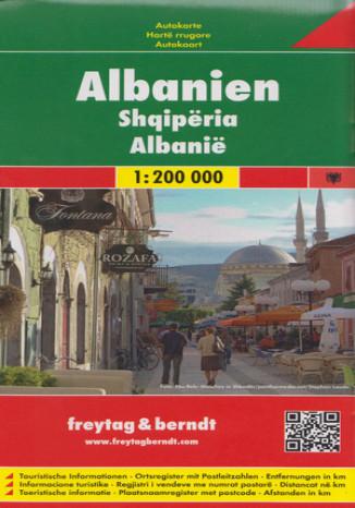 Albania. Mapa samochodowa 1:200 000