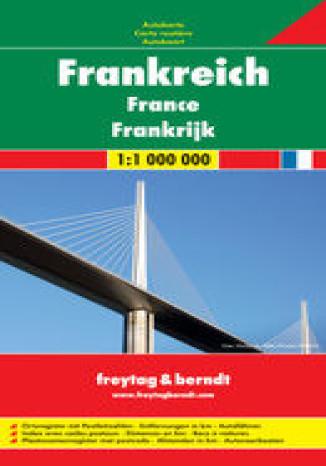 Okładka książki/ebooka Francja mapa 1:1 000 000 Freytag & Berndt