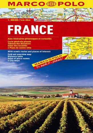 Okładka książki/ebooka Francja mapa 1:800 000 Marco Polo