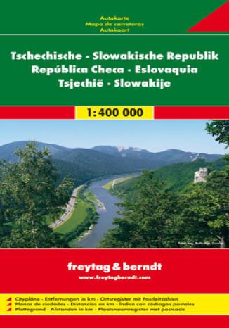 Okładka książki/ebooka Czechy, Słowacja. Mapa Freytag & Berndt / 1:400 000