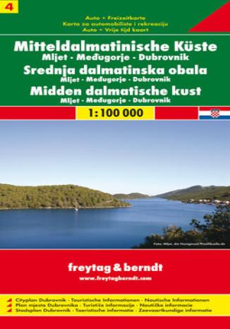 Okładka książki Chorwacja cz.4 Mljet Medziugorie Dubrownik mapa 1:100 000 Freytag & Berndt