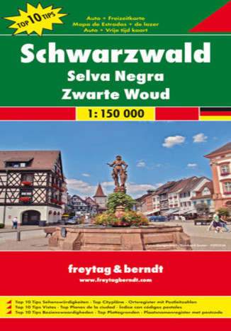Okładka książki/ebooka Schwarzwald. Mapa Freytag & Berndt 1:150 000