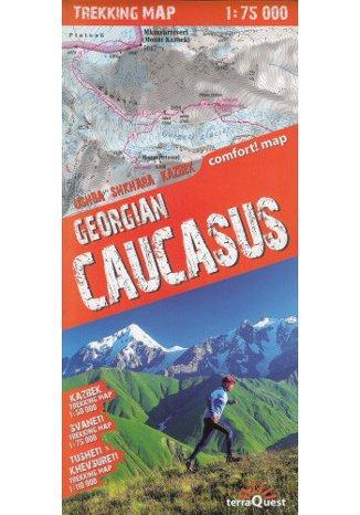 Okładka książki/ebooka Gruzja Kaukaz mapa 1:75 000 terraQuest