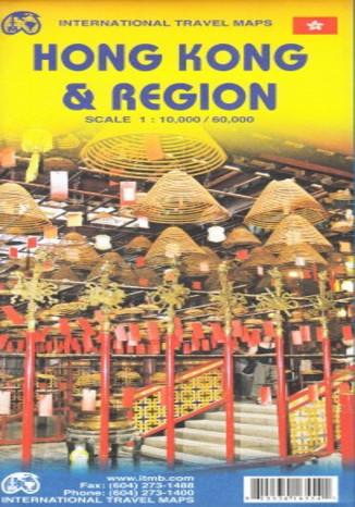 Okładka książki Hongkong miasto i okolice. Mapa ITMB 1:10 000/1:60 000