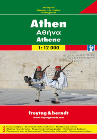 Okładka książki Ateny. Mapa Freytag & Berndt 1:12 000