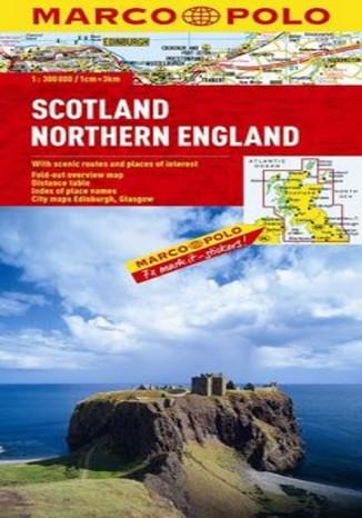 Okładka książki/ebooka Szkocja, Anglia Północna. Mapa Marco Polo 1:300 000
