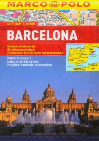 Okładka książki/ebooka Barcelona. Mapa Marco Polo 1:15 000