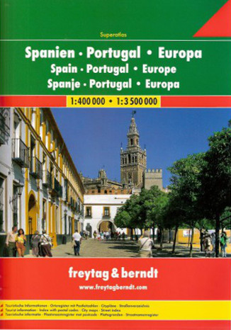 Okładka książki Hiszpania i Portugalia Atlas Freytag & Berndt 1:400 000 / 1:3 500 000