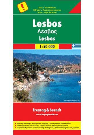 Okładka książki/ebooka Lesbos. Mapa Freytag & Berndt 1:50 000