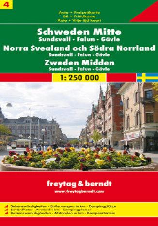 Szwecja cz. 4 część środkowa. Mapa samochodowa