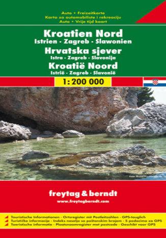 Chorwacja Istria cz. północna. Mapa samochodowa