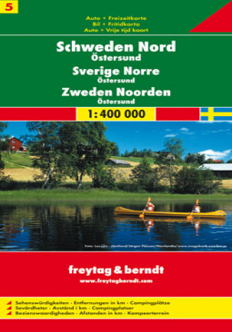 Szwecja cz. 5 część północna. Mapa samochodowa