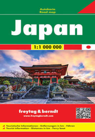 Okładka książki/ebooka Japonia. Mapa Freytag & Berndt / 1:1 000 000