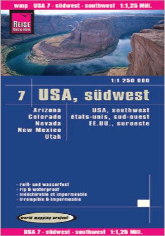 Okładka książki/ebooka USA południowy zachód. Mapa Reise Know-How / 1:1 250 000