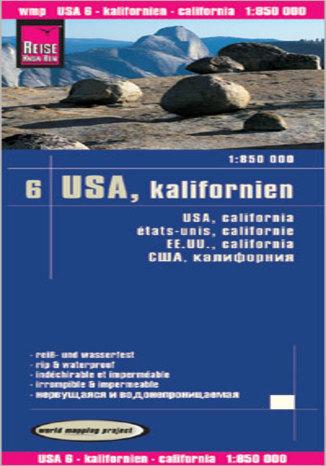 Okładka książki USA - Kalifornia. Mapa Reise Know-How / 1:850 000