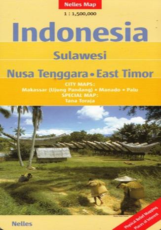 Okładka książki/ebooka Indonesia. Sulawesi, Nusa Tenggara, East Timor. Mapa Nelles 1:1 500 000