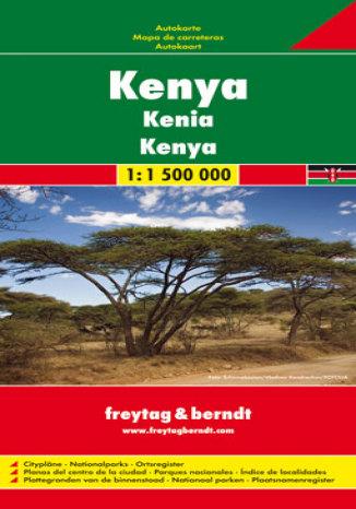 Okładka książki/ebooka Kenia. Mapa samochodowa