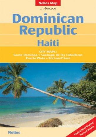 Dominikana, Haiti. Mapa samochodowa