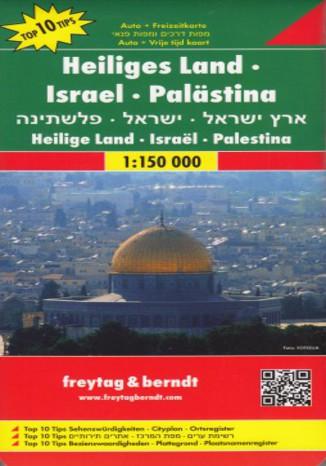 Okładka książki Izrael i Palestyna. Mapa Freytag & Berndt 1:150 000