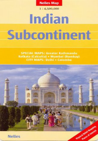 Okładka książki Indie Subkontynent. Mapa Nelles 1:4 500 000