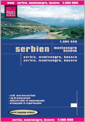 Okładka książki/ebooka Serbia, Czarnogóra, Kosowo. Mapa Reise Know-How / 1:385 000