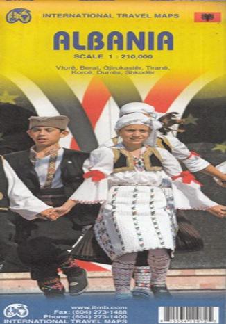 Okładka książki Albania. Mapa ITMB 1:210 000