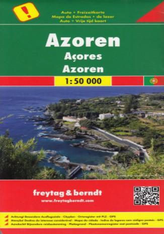 Okładka książki Azory. Mapa Freytag & Berndt / 1:50 000