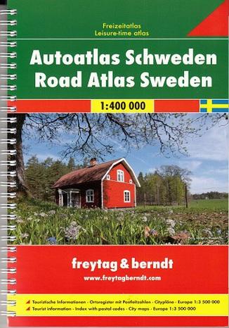 Okładka książki/ebooka Szwecja. Atlas Freytag & Berndt / 1:400 000