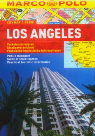 Okładka książki/ebooka Los Angeles. Mapa Marco Polo / 1:15 000