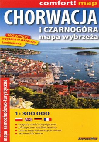 Okładka książki/ebooka Wybrzeże Chorwacji i Czarnogóry. Mapa ExpressMap / 1:300 000