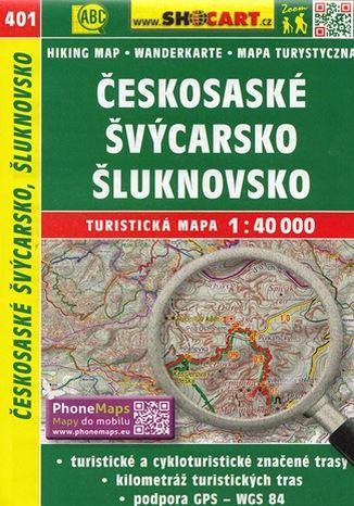 Okładka książki Českosaské Švýcarsko, Šluknovsko, 1:40 000