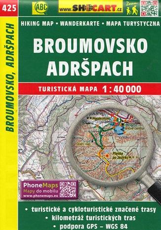 Okładka książki Broumovsko Adršpach, 1:40 000