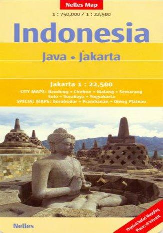 Okładka książki Indonezja. Jawa Dżakarta. Mapa nelles 1:750 000 / 1:22 500